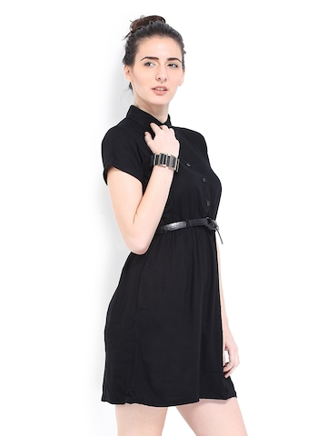 Roadster Black Shirt Dress