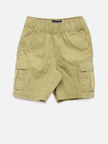 The Childrens Place Boys Solid Cargo Shorts