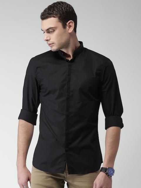 Black Celio Regular Shirt descuento Solid 60 Casual Fit en de Men PXtwCq
