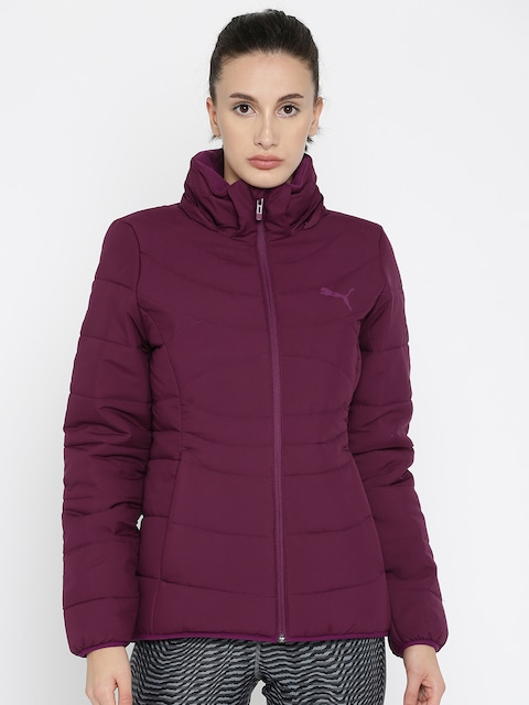 Buy Puma Women Purple Ess 400 Hooded Down W Padded Jacket - Jackets for  Women | Myntra