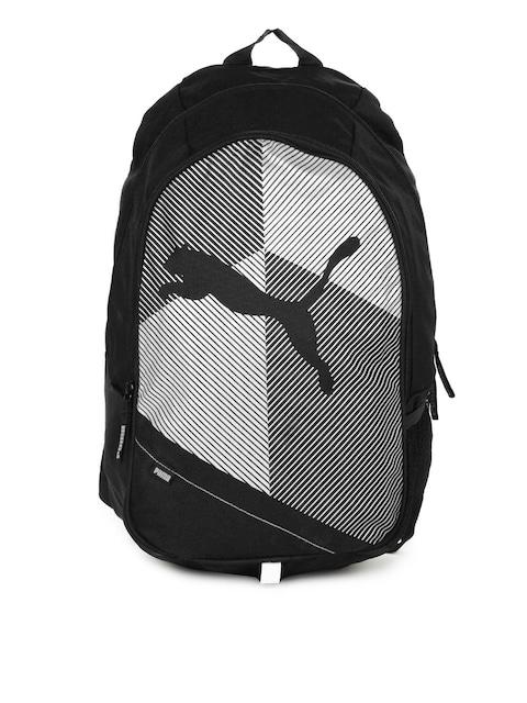 puma unisex echo plus black & white backpack