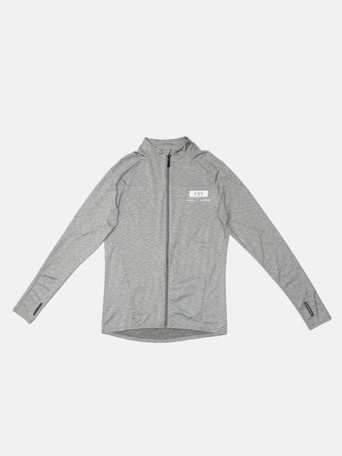 HRX by Hrithik Roshan Men Grey Self Design Lightweight Sporty Jacket