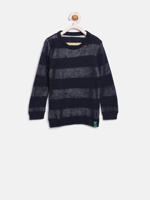 United Colors of Benetton Boys Navy Sweater