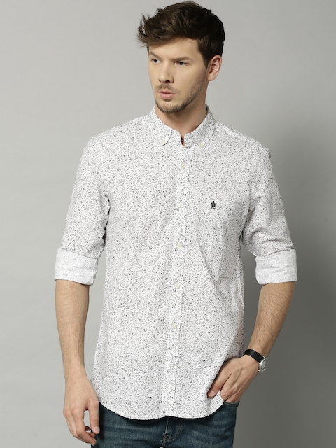 French Connection White Printed Casual Shirt