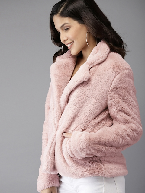 HERE&NOW Women Pink Solid Jacket