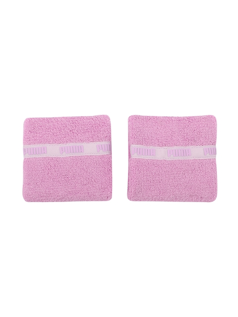 Puma Unisex Pack of 2 Pink Wristbands