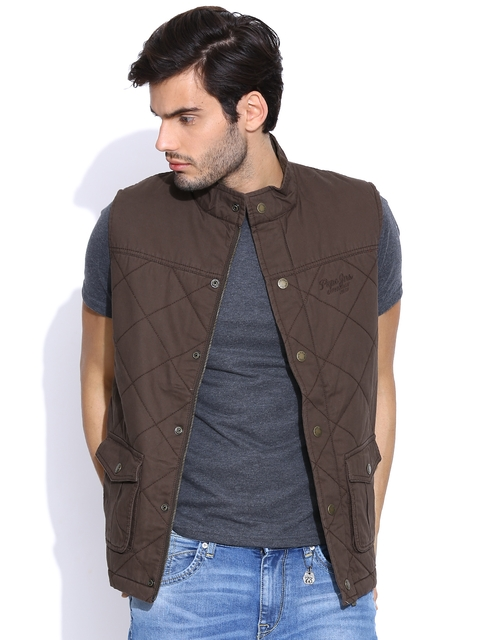 Pepe Jeans Brown Sleeveless Jacket