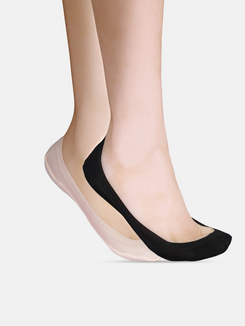 DressBerry Women Pack of 2 Solid Shoe Liners
