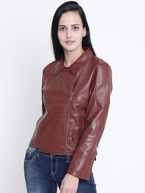 Crimsoune Club Women Brown Solid Jacket