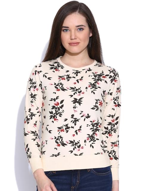 Pepe Jeans Cream-Coloured Floral Print Sweatshirt