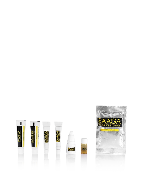 Raaga PROFESSIONAL Unisex Set of 7 Gold Facial Kit with Gold Colloid 43 g