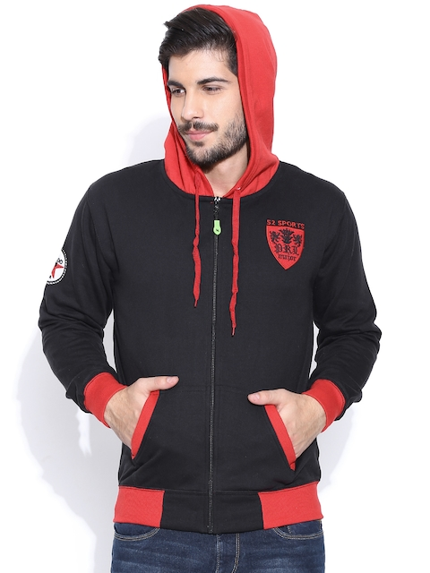 Sports52 wear Black WSKBS040 Hooded Sweatshirt