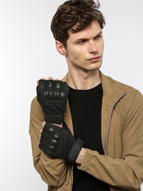 Roadster Men Black Motor Bike Hand Gloves