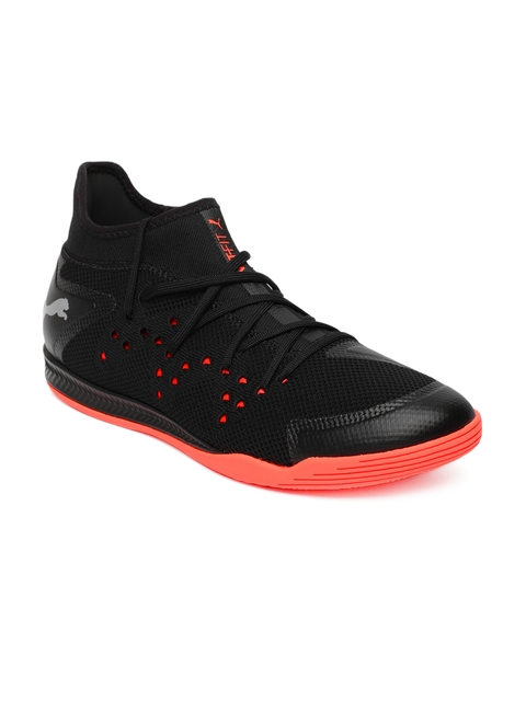 Puma Men Black Textile Mid-Top Sharp XT NETFIT 1 Walking Shoes