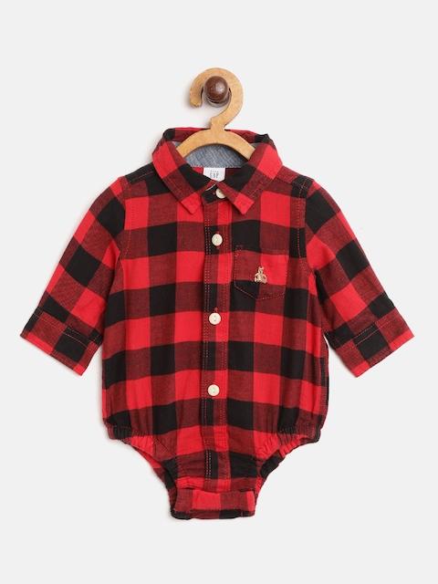 GAP Baby Boy's Plaid Long Sleeve Bodysuit