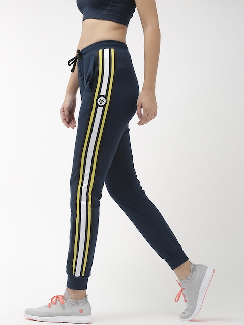 2GO Women Navy Blue Solid Tall Joggers