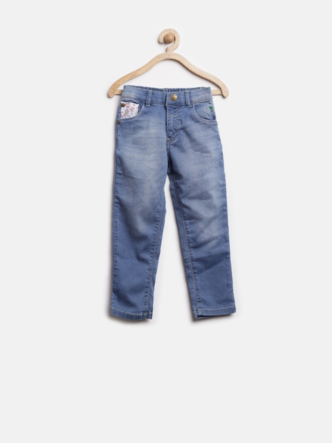 Gini and Jony Girls Blue Washed Jeans