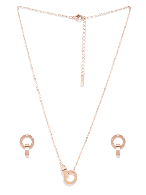 Swiss Design Copper-Toned Jewellery Set