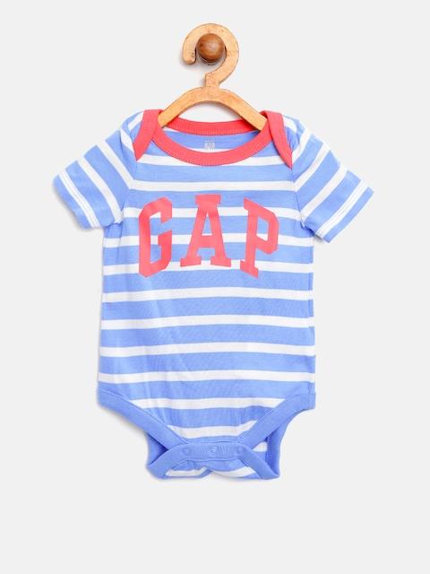 GAP Baby Boy Stripe Logo Short Sleeve Bodysuit