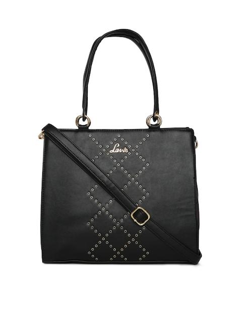Lavie Black Solid Handheld Bag