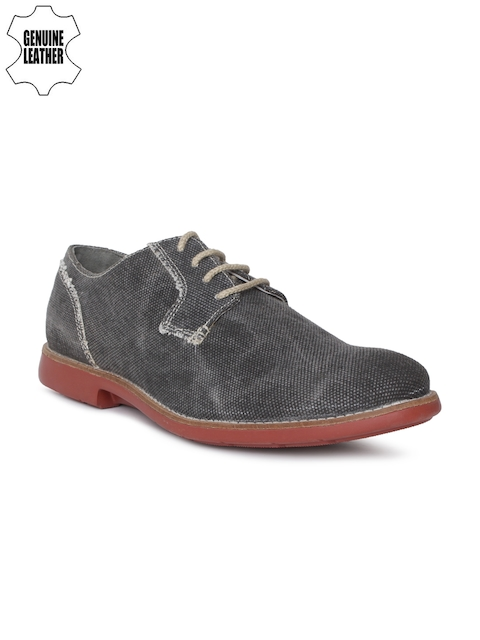 Ruosh Men Charcoal Derbys
