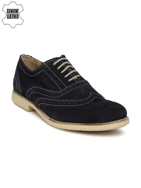 Ruosh Casual Men Navy Leather Boots
