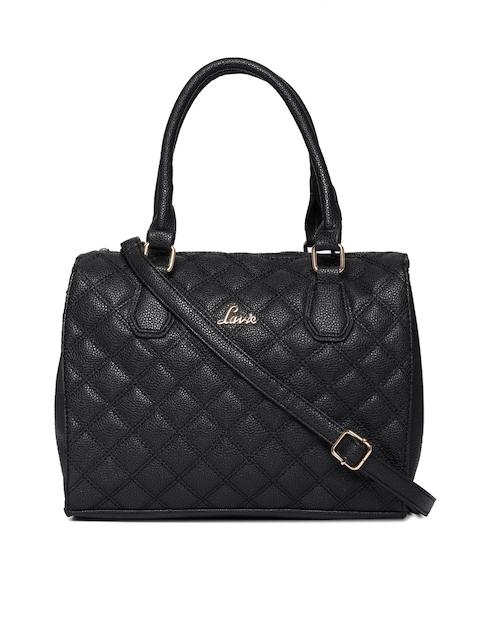 Lavie Black Textured Handheld Bag