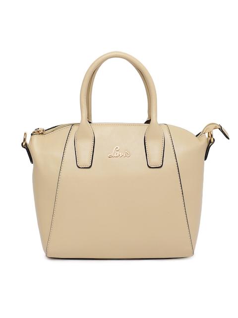 Lavie Women Beige Solid Handheld Bag