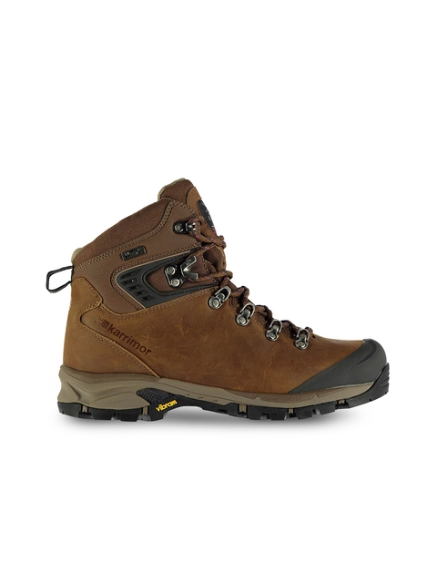 Karrimor Women Brown Leather Mid-Top Trekking Shoes