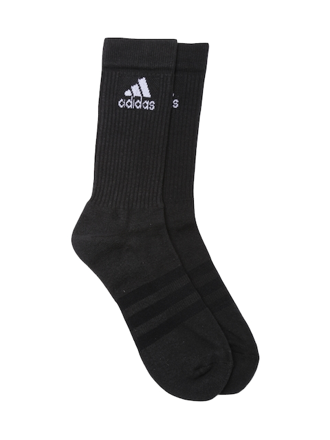 Adidas Unisex Black 3S PER CR HC 1P Socks