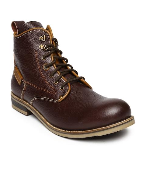 Buckaroo Men Brown Leather Boots