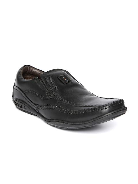 Buckaroo Men Black Leather Casual Shoes