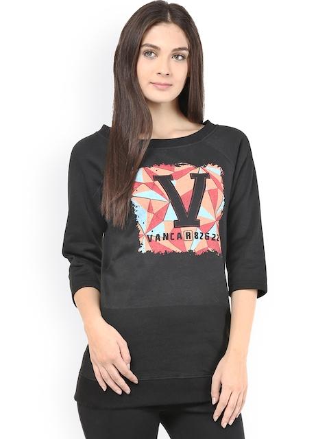 The Vanca Black Printed Sweatshirt