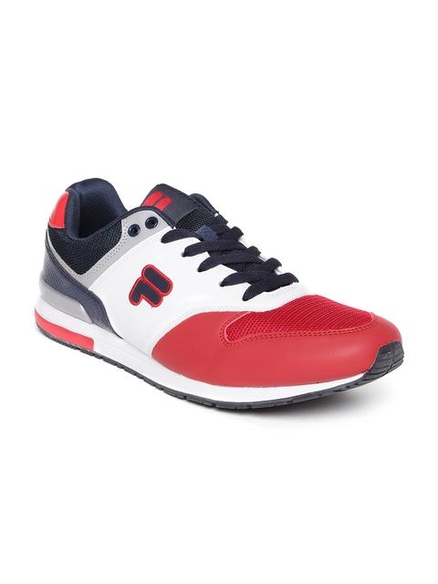 FILA Men White & Red ROMOLO Casual Shoes