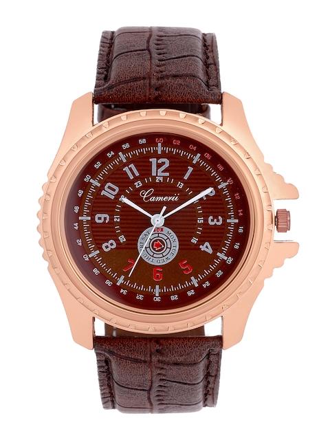Camerii Men Brown Dial Watch WM172