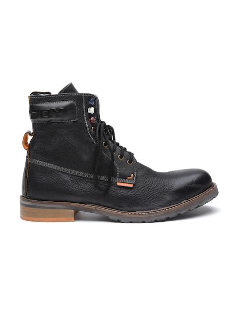 Superdry Men Black Brad Leather Boots