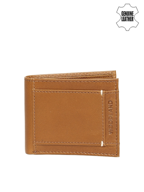 Woodland Men Tan Brown Genuine Leather Wallet