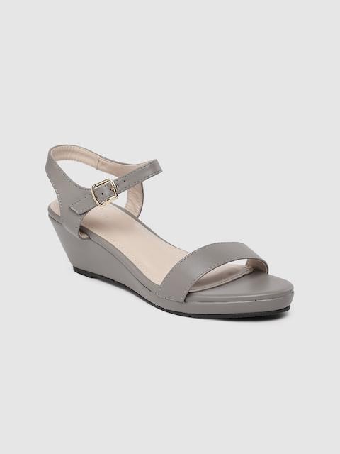 Van Heusen Woman Women Grey Solid Sandals