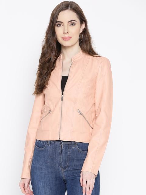 Vero Moda Women Peach-Coloured Solid Tailored Jacket