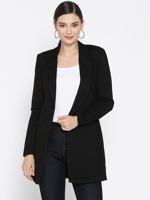 Vero Moda Black Solid Coat