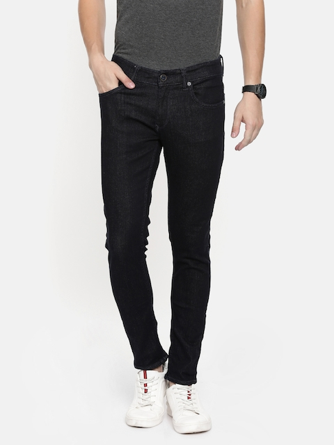 SPYKAR Men Navy Blue Super Skinny Fit Low-Rise Clean Look Stretchable Jeans