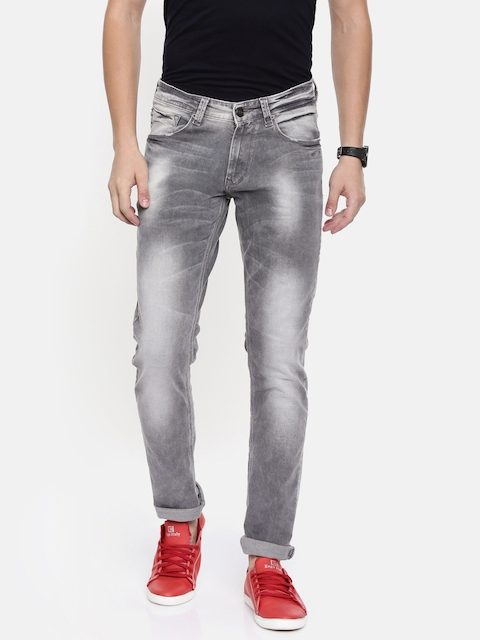 SPYKAR Men Grey Skinny Fit Low-Rise Clean Look Stretchable Jeans