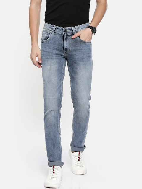 SPYKAR Men Blue Rover Slim Fit Low-Rise Clean Look Stretchable Jeans