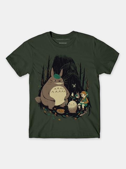 THREADCURRY Ragazzi di colore Verde Oliva Zelda Stampa Tshirt