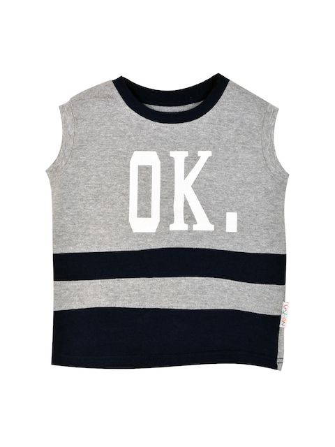 GKIDZ Boys Grey Printed Sweatshirt