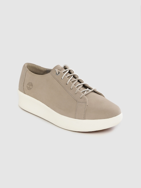 Timberland Femmes Taupe Solide Berlin Parc D'Oxford Nubuck Sneakers