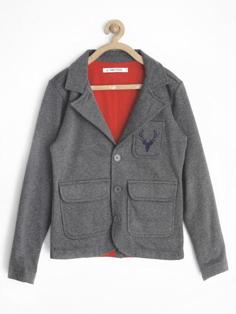 Allen Solly Junior Boys Charcoal Grey Casual Blazer