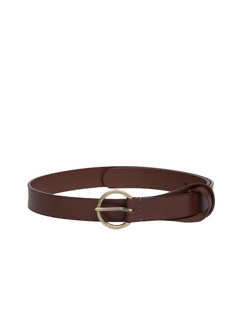 Levis Women Brown Solid Leather Belt