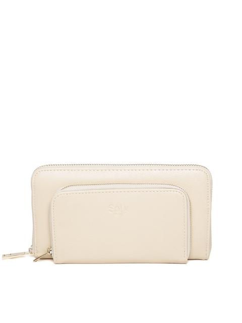Allen Solly Women Cream-Coloured Wallet