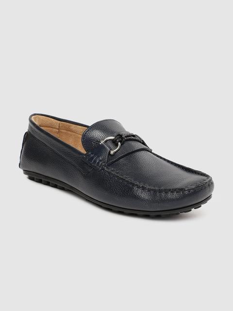Arrow Men Navy Blue Loafers